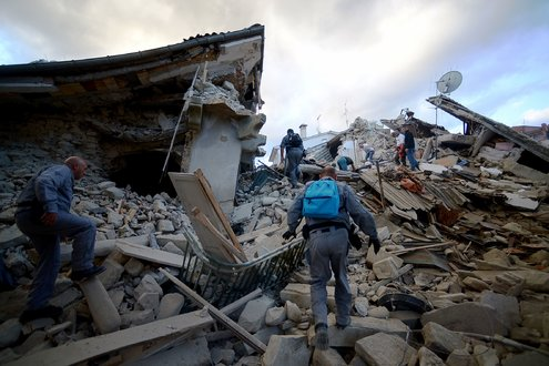 Rescuers searching for victims in the town of Amatrice Filippo MonteforteAgence France Presse Getty Images