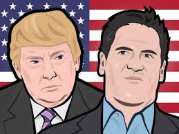 Donald Trump vs Mark Cuban (credit: Business Insider)